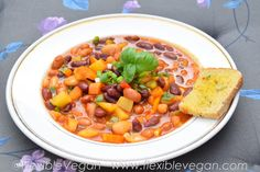 Chilli sin Carne - Quick and easy recipe for busy working days. http://www.flexiblevegan.com #chilli #flexiblevegan #dinnerideas