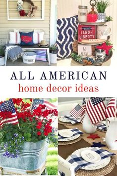 Fourth Of July Decor, 4th Of July Decorations, 4th Of July Wreath, July 4th, Spring Home Decor, Diy Home Decor, Room Decor, Liberty Home, Americana Home Decor
