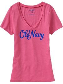 Women's Graphic V-Neck Tee: In The Pink