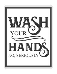 Wash your hands. No seriously. Free vintage bathroom printable-www.themountainviewcottage.net