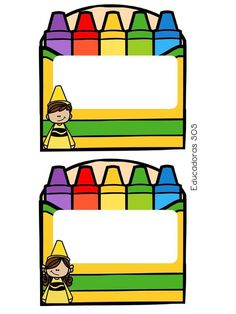 Crayon Themed Classroom, Classroom Labels, Classroom Setup, Kindergarten Classroom, Kindergarten Activities, School Frame, I School, Back To School, Childhood Education
