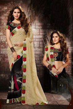 # party # sarees @ http://zohraa.com/cream-faux-georgette-saree- z2818p909-16.html # celebrity # zohraa # onlineshop # womensfashion # womenswear # bollywood #look # diva #party # shopping # online # beautiful # beauty #glam # shoppingonline # styles # stylish # model # fashionista # women # lifestyle #fashion # original # products # saynotoreplicas