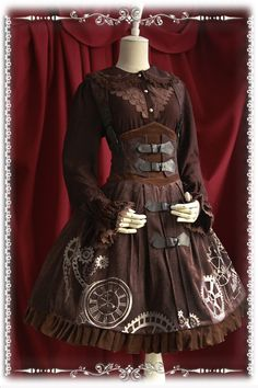[Infanta.]Steam Punk Lolita embroidered Inverse Time Machine tiebelt JSK $118.42 of course, this is just inspiration for something i would make... i am not paying that money