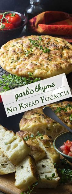 My noknead focaccia bread with garlic and thyme is made right in a cast iron skillet giving it a soft and chewy interior and crispy edges Easy Great for dinner or for pan. Bread Recipes, Cooking Recipes, Lasagna Recipes, Ramen Recipes, Noodle Recipes, Sausage Recipes, Recipes Dinner, Chicken Recipes, Cast Iron Cooking