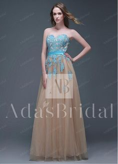 Amazing Tulle & Organza Sweetheart Neckline Full-length A-line Prom Dresses
