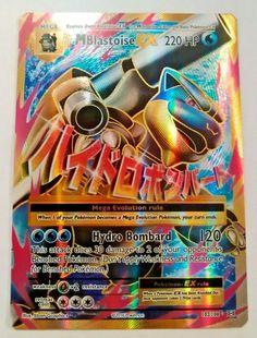 POKEMON XY EVOLUTIONS MEGA M BLASTOISE EX 102/108 FULL ART ULTRA RARE CARD NNM #Pokemon