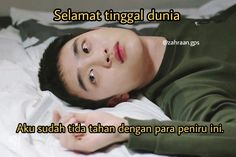 Hylyh cemen, copas doang bisanya Memes Funny Faces, Funny Kpop Memes, Exo Memes, Some Jokes, Drama Memes, Caption Quotes, Wholesome Memes, Kyungsoo, Reaction Pictures