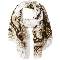 Theodora & Callum Women's Hvar Tie All Scarf, Black/Multi (¥20,985) ❤ liked on Polyvore featuring accessories, scarves, theodora & callum scarves, theodora & callum, tie scarves, black shawl and black scarves