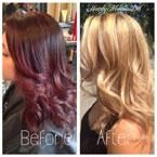 HOW TO: Get the steps and formula for this dramatic color makeover. We hate to call it a correction because the before color was also pretty, but client was looking for a change.