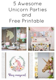 These unicorn parties are so beautiful! You want to get to the bottom for the free printable.