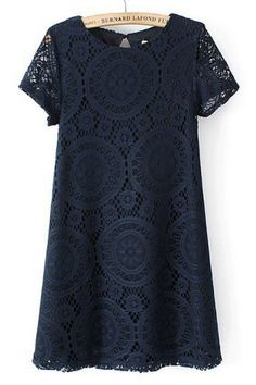 Navy Lace // $19