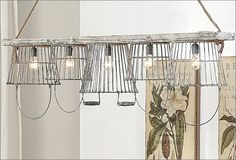 Stipje - egg basket lighting via Antique Farmhouse