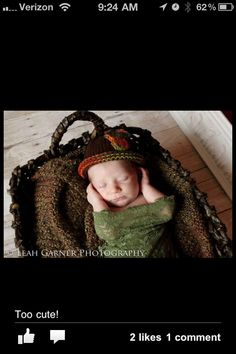 Fall newborn girl photography