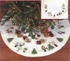 Patrones Navidad punto de cruz Snoopy   fiestas de Navidad