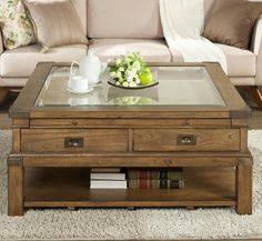 Falls Creek Square Cocktail Table by Riverside - Home Gallery Stores