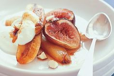 Honey Grilled Bananas And Figs Recipe - WHAT. Awesome