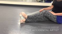 Ankle stability band exercises - Want stronger ankles? Watch this ankle strength video Ankle Exercises, Band Exercises, Dancer Stretches, Adult Ballet Class, Ballet Inspired Fashion, Ballet Feet, Dance Tips, Professional Dancers, Dance Class