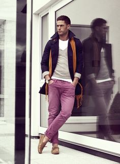 guys can wear colour too!