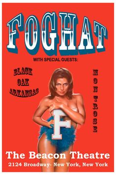 Fog Hat concert posters | Foghat at Beacon Theatre New York Poster 1975 at Endless Posters