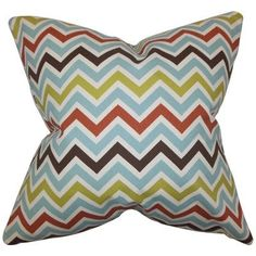 The Pillow Collection Quito Zigzag Bedding Sham Size: King