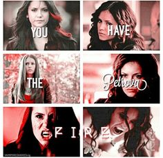 the vampire diaries, elena gilbert, and katherine pierce image