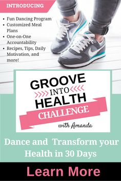 Say goodbye to fad dieting and dreaded workouts. The Groove into Health Challenge is a 30-day fitness, nutrition, and support-focused journey that makes losing weight and keeping it off fun and long-lasting with a dancing fitness program, customized meal plans, and one-on-one accountability.