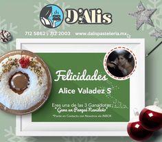 Tercer ganador del 3er sorteo navideño ganador de un delicioso Panqué: Felicidades Alice Valadez S puedes comunicarte por inbox por favor para que nos pases tus datos