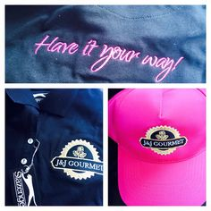 #branded #clothing #caps done for JJ Gourmet