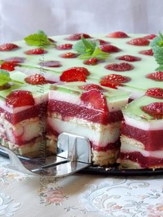 Polish Desserts, Polish Recipes, Cheesecake, Summer Cakes, Cake Bars, Holiday Treats, Sweet Recipes, Good Food, Dessert Recipes
