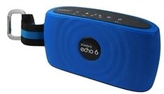 XWAVE echo 6 6W Hi-Fi Portable Wireless Bluetooth Speaker with Built-in Microphone 12 hour rechargeable battery (Blue) - FREE G