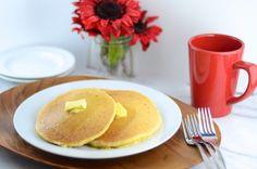 Corn Cakes - corn#pancakes made with #applesauce and #almondmilk