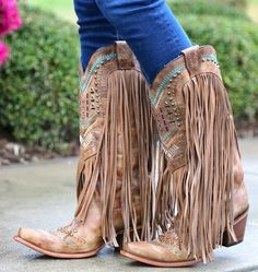 b60329cc85 Corral Tan Multicolor Crystal Pattern and Fringe C2910. Cowgirl StiefelUnkonventioneller  StilStitch FixFransen ...