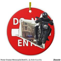 Power Cruiser Motorcycle Devil Carbon Edition Ceramic Ornament