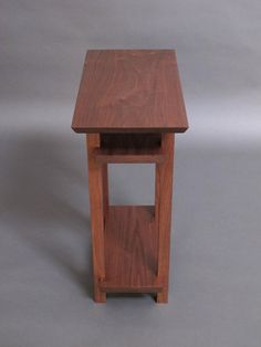 Small Narrow Wood Table With Two Shelves: Small Side Table, Narrow End Table,  For Accent Table/ Nigh