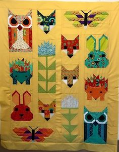 Fancy Forest. Pattern is by Elizabeth Hartman of Oh Fransson! and fabric is Block Party by Sandy Gervais for Moda.