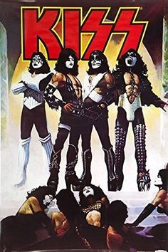 A great poster of the album cover from the klassic KISS LP Love Gun! Check out the rest of our excellent selection of KISS posters! Need Poster Mounts. Kiss Band, Kiss Rock Bands, Kiss Album Covers, Rock Album Covers, Paul Stanley, Gene Simmons, Kiss Musik, Kiss Destroyer, Banda Kiss