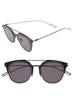 f46b62d65bbf Christian Dior 'Composit 1.0S' 50mm Metal Shield Sunglasses available at  #Nordstrom