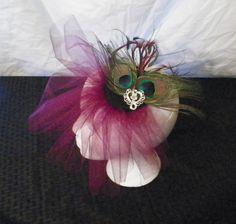 #Peacock #Fascinator #Comb #hair #Christmas #handmade #thecraftstar $30.00