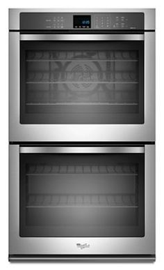 in Black Ice by Whirlpool in Westwood, NJ - Gold® 10 cu. Double Wall Oven with True Convection Cooking Best Double Wall Ovens, Hot Rods, Electric Wall Oven, Convection Cooking, Large Oven, Stainless Steel Oven, Cooking Appliances, Kitchen Appliances, Built In Ovens