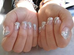 cool silver nails