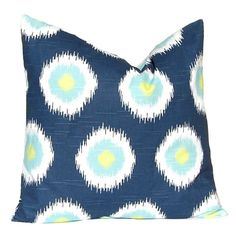 Pillow Cover, Decorative Throw Pillow Cover Navy Blue and Lime Green Domino Dots Cushion Cover Toss Pillow One All Sizes Blue Feathers Navy Pillows, Toss Pillows, Throw Pillow Covers, Bed Pillows, Home Decor Bedding, Rugs On Carpet, Carpets, Pillow Shams, Decorative Throw Pillows