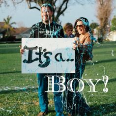 Silly String Gender Reveal! This would be cute to give the correct color of silly string to a bunch of family and friends and then reveal it to the parents! Kind of a role reversal since normally the parents know first :)
