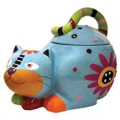 Charming Cat Cookie Jar.