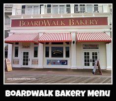 Boardwalk Bakery Menu at Boardwalk Resort Walt Disney World #DisneyDining #BoardwalkInn