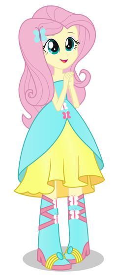 Fluttershy - ver. 2 - Equestria Girl by negasun on deviantART