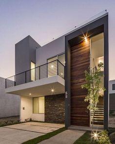 Modern Exterior House Designs, Dream House Exterior, Modern Architecture House, Modern House Plans, Modern House Design, Architecture Design, Exterior Design, Bungalow House Design, House Front Design