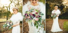 red floral architecture bouquet bride at iscoyd park at sunset winter wedding natural wild floral arrangement flowers