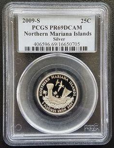 2009-S 25c Silver Proof Northern Mariana Islands Quarter PCGS PR69DCAM Gem Coin | Coins & Paper Money, Coins: US, Quarters | eBay!