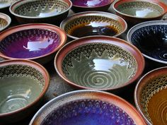 fire when ready pottery - love the color changes from bowl to rim