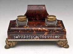 TORTOISESHELL INKWELL Circa: 1820